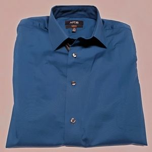 APT 9 Turquoise Stretch Button Down Shirt NWT